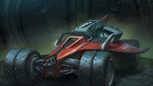 Preview wallpaper art, blizzard, car, spikes