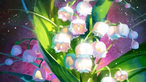 Preview wallpaper art, bouquet, flowers, lilies of the valley