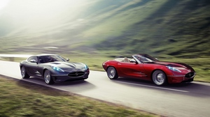 Preview wallpaper cars, nature, road, traffic