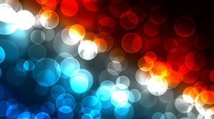 Preview wallpaper circles, colorful, glare, light