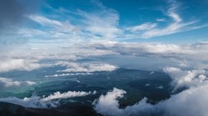 Preview wallpaper clouds, sky, top view