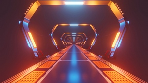 Preview wallpaper bright, corridor, light, neon, tunnel