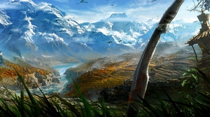 Preview wallpaper art, far cry 4, mountain, sword