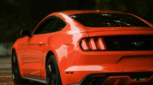 Preview wallpaper car, ford, ford mustang, red, side view