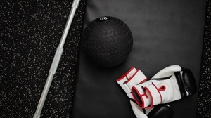 Preview wallpaper ball, barbell, gym, sports