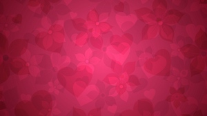 Preview wallpaper flowers, heart, hearts, pink, texture