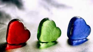 Preview wallpaper colored, glass, heart, ice