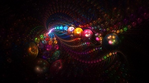 Preview wallpaper abstraction, balls, light, lines