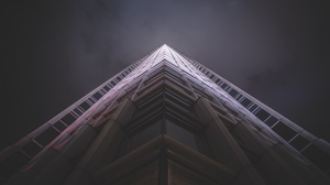 Preview wallpaper architecture, bottom view, facade, night