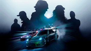 Preview wallpaper art, need for speed, porsche, silhouettes