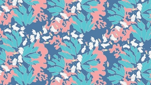 Preview wallpaper carrots, leaves, pattern, rabbits