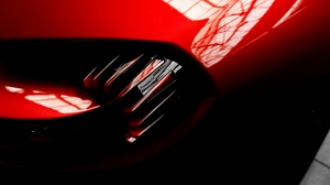 Preview wallpaper car, red, reflection, shape
