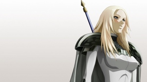 Preview wallpaper anime, armor, blonde, claymore, girl, spears