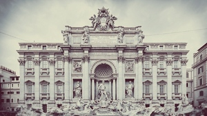 Preview wallpaper art, building, city, fountain, monument, structure