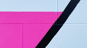 Preview wallpaper art, colorful, geometric, lines, paint, wall
