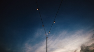 Preview wallpaper lamps, lighting, sky, wires