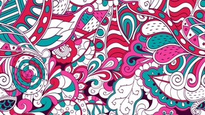 Preview wallpaper abstraction, colorful, doodles, pattern