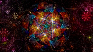 Preview wallpaper abstraction, colorful, fractal, glow
