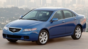 Preview wallpaper 2003, acura, asphalt, blue, cars, city, side view, style, tsx