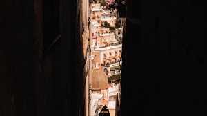 Preview wallpaper alleyway, architecture, buildings, city, dark, view