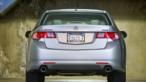 Preview wallpaper 2008, acura, cars, metallic silver, parking, rear view, style, tsx
