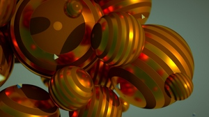 Preview wallpaper circles, flight, size, spheres, striped