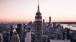 Preview wallpaper aerial view, architecture, buildings, city, metropolis, new york