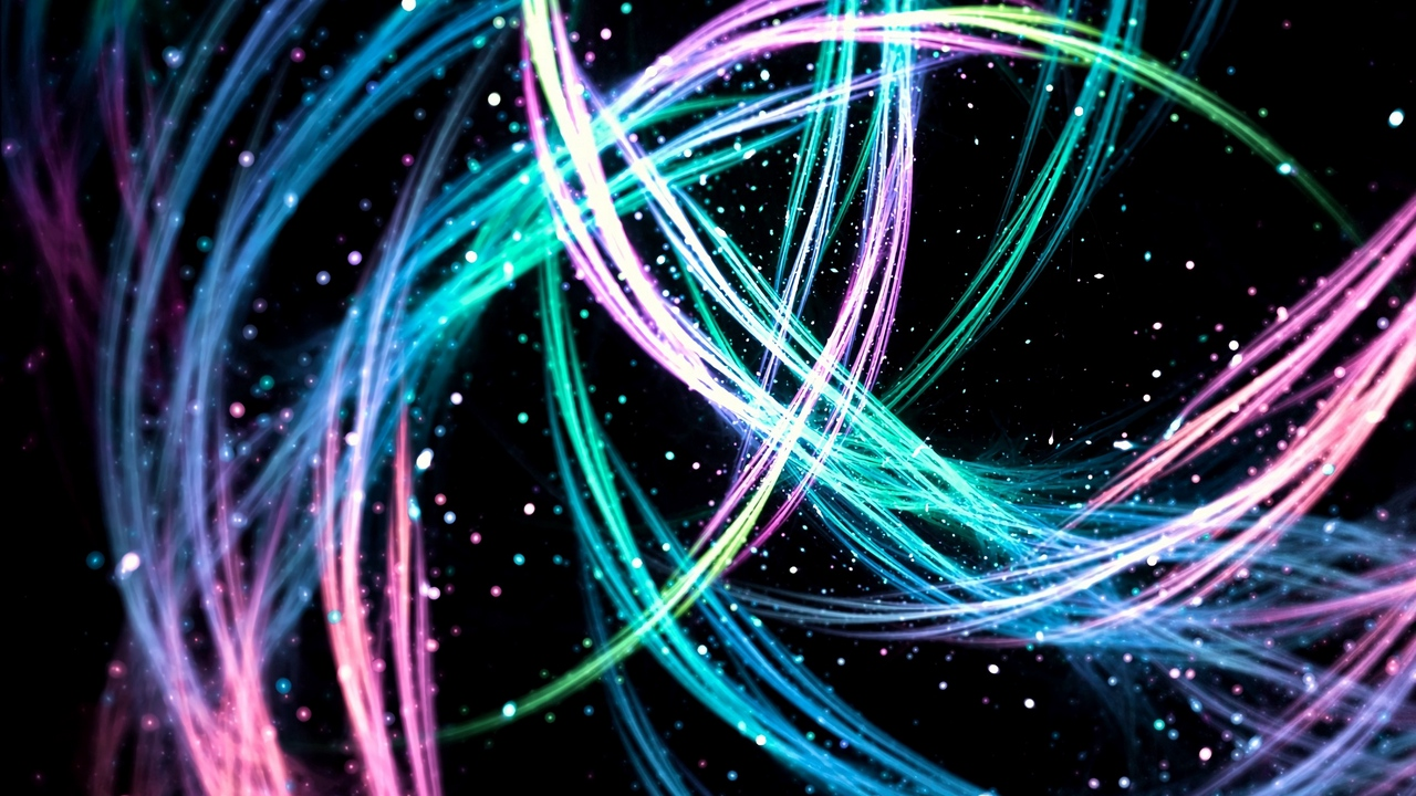 colorful lines sparks glowing bright fractal abstract