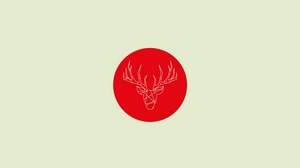 Preview wallpaper art, circle, deer, minimalist