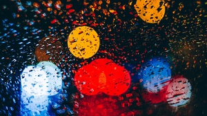 Preview wallpaper circles, colorful, drops, glare