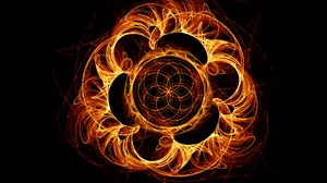 Preview wallpaper bright, fiery, fractal, swirling, tangled