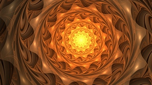 Preview wallpaper abstraction, fractal, glow, spiral, twisted