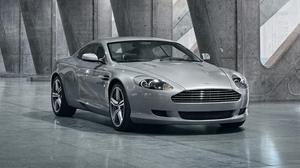 Preview wallpaper 2008, aston martin, cars, db9, front view, gray metallic, reflection, style