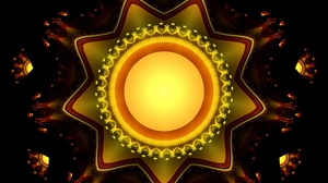 Preview wallpaper abstraction, bright, fractal, glow, star