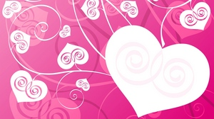 Preview wallpaper background, bright, heart, patterns