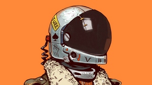Preview wallpaper art, digital art, helmet, sci-fi, soldier