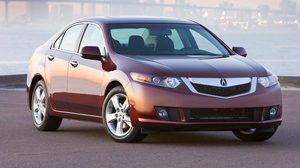 Preview wallpaper 2008, acura, auto, fog, front view, home, lights, red, style, tsx