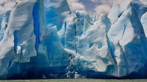 Preview wallpaper ice floes, iceberg, shore