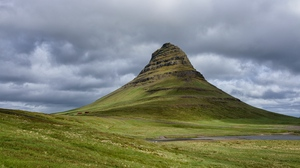 Preview wallpaper hill, iceland, landscape, mountain, nature, peak