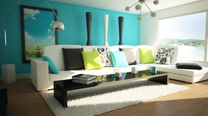 Preview wallpaper bathroom, bright, furniture, living room, modern