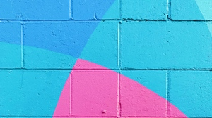 Preview wallpaper blue, paint, pink, surface, wall
