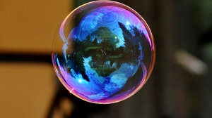 Preview wallpaper bowl, colorful, reflection, soap bubble
