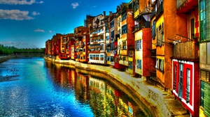 Preview wallpaper building, hdr, italy, river