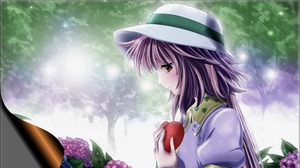 Preview wallpaper girl, hat, heart, nature, rain, sadness