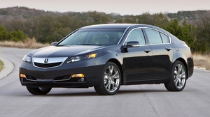 Preview wallpaper 2011, acura, asphalt, black, cars, side view, style, sunset, tl, trees