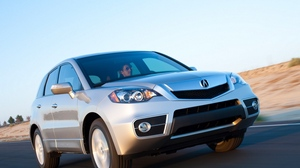 Preview wallpaper acura, cars, front view, jeep, rdx, silver metallic, speed, track
