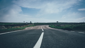 Preview wallpaper marking, road, sky