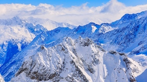 Preview wallpaper mountains, peaks, snow, snow-covered