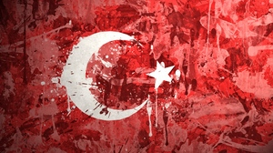 Preview wallpaper background, flag, paint, stains, texture, turkey