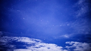 Preview wallpaper clouds, night, starry sky